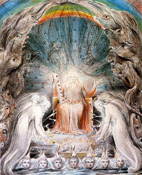 William Blake - The Four and Twenty Elders Casting their Crowns ...